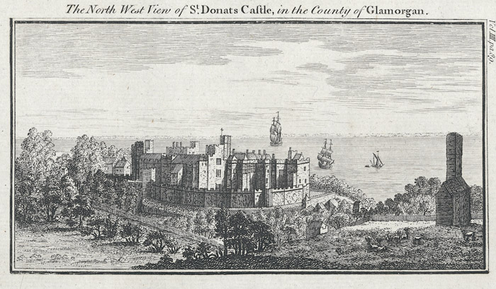 The north west view of St. Donats castle, in the county of Glamorgan