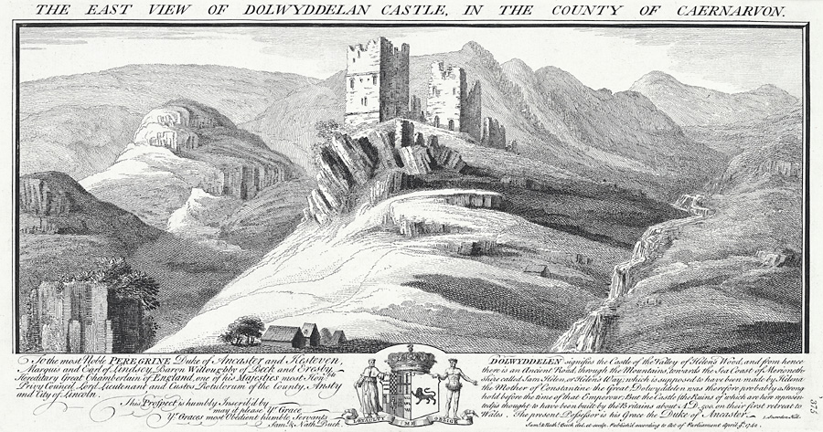 The east view of Dolwyddelan Castle