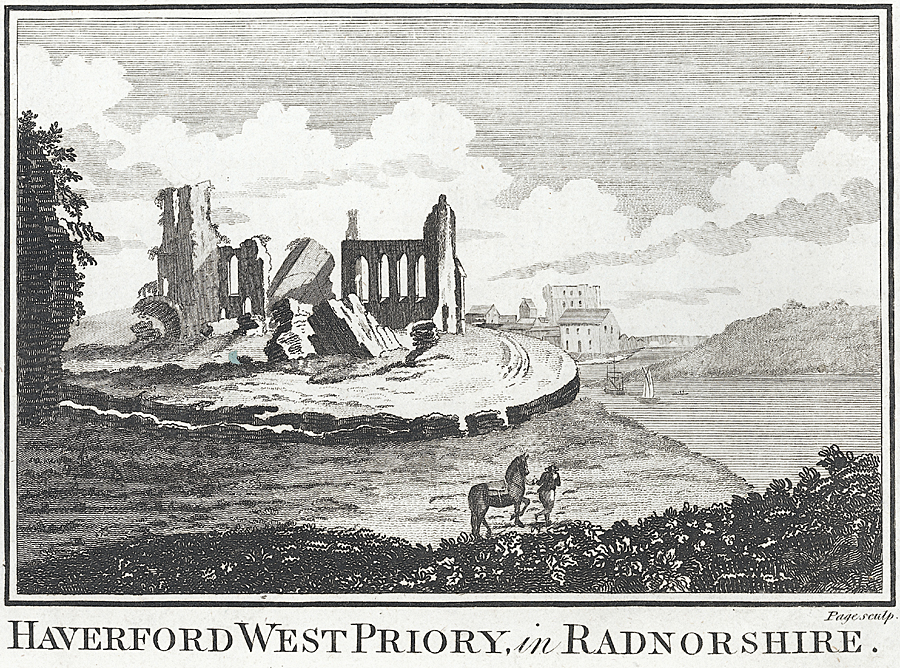 Haverford West Priory, in Radnorshire [i.e. Pembrokeshire]