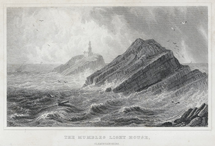 The Mumbles light house, Glamorganshire