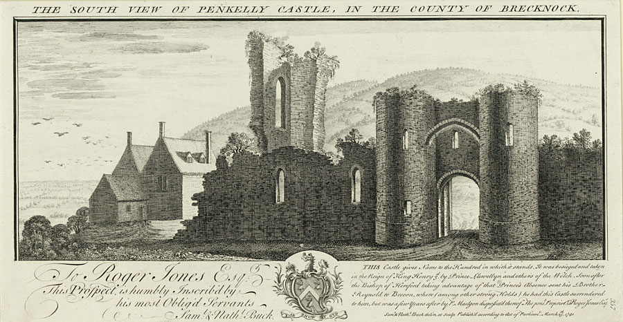 The South View Of Penkelly Castle, In the County Of Brecknock