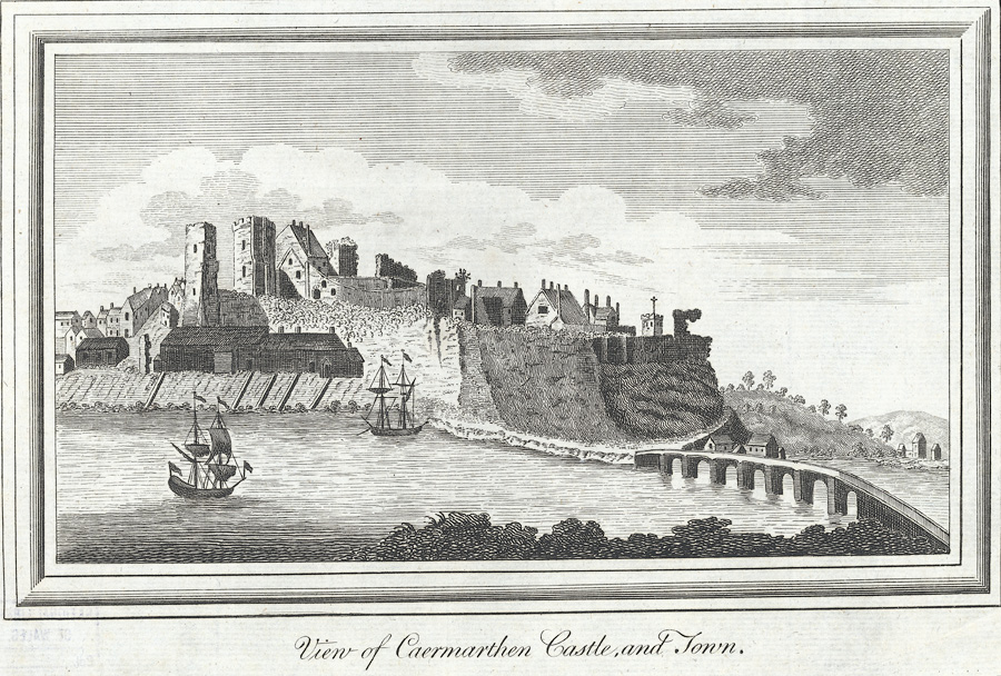 View of Caermarthen Castle, and Town