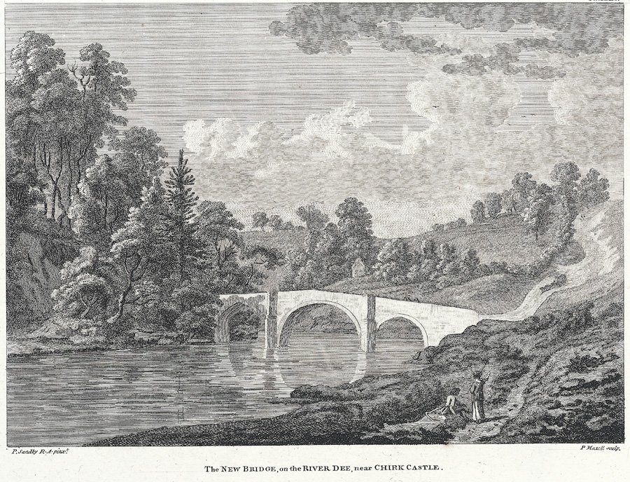 The new bridge, on the River Dee
