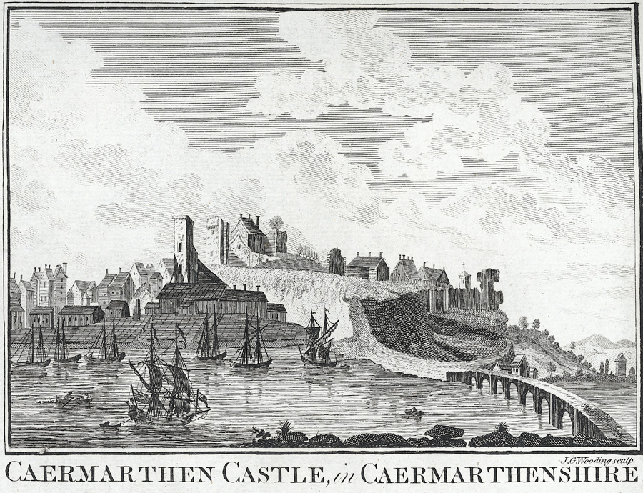 Caermarthen Castle, in Caermarthenshire