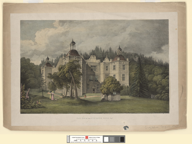 Plas Teg, the seat of T. B. Trevor Roper Esqr
