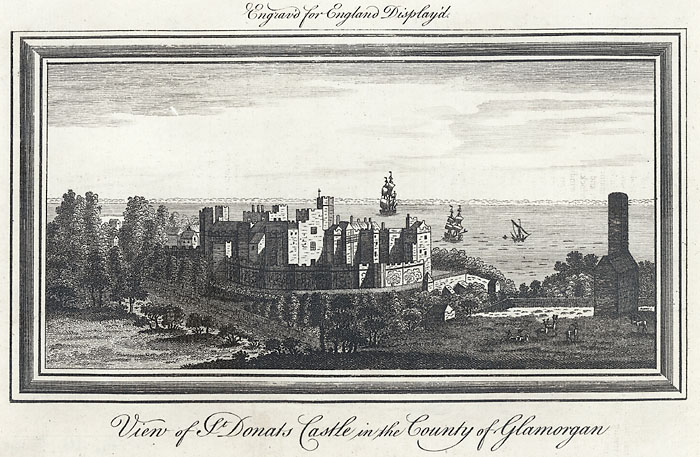 View of St. Donats castle in the county of Glamorgan
