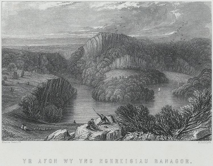 Yr Afon Wy yng nghreigiau Banagor