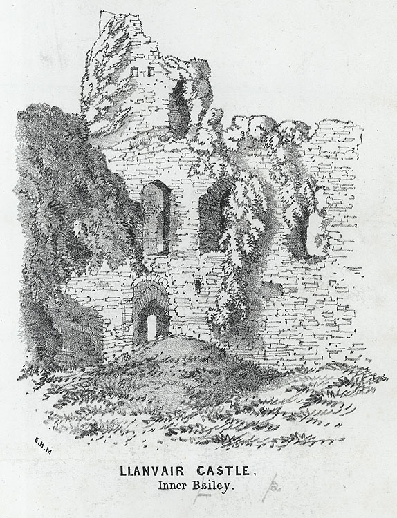 Llanvair Castle, Inner Bailey