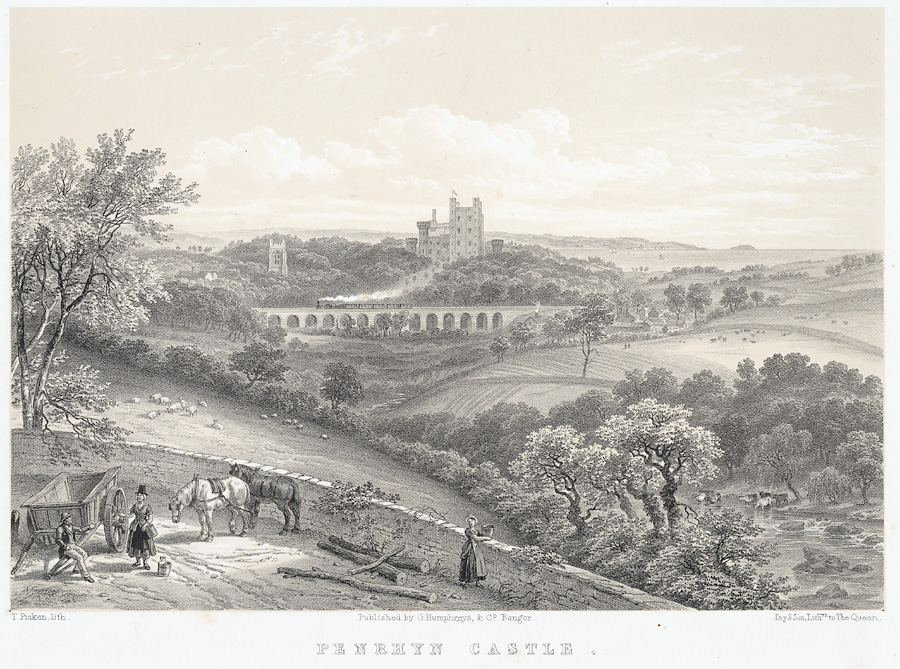 Penrhyn Castle, From The Road To Penrhyn Slate Quarries
