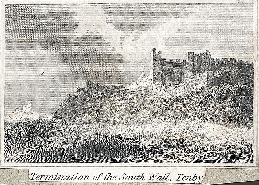 Termination of the south wall, Tenby