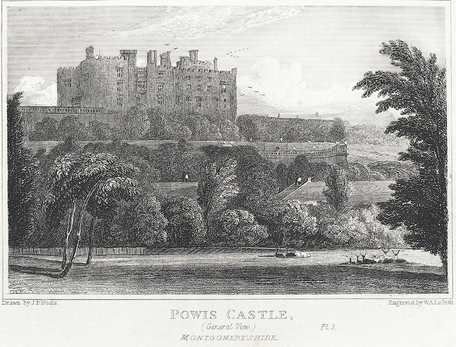 Powis Castle, Montgomeryshire. General View