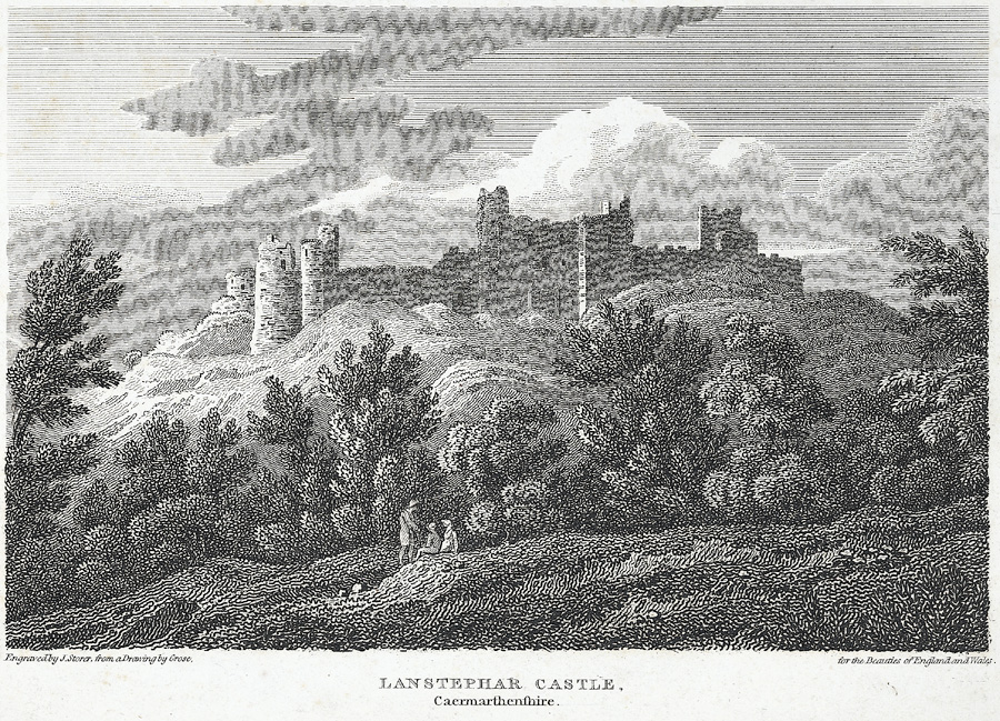 Lanstephar Castle, Caermarthenshire
