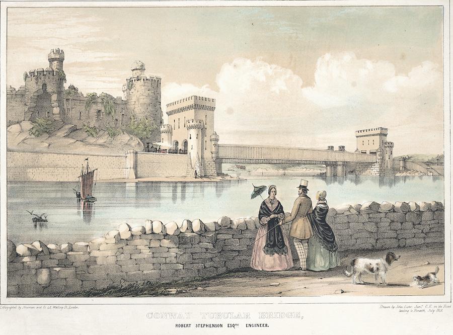Conway Tubular Bridge; Robert Stephenson Eaq. engineer