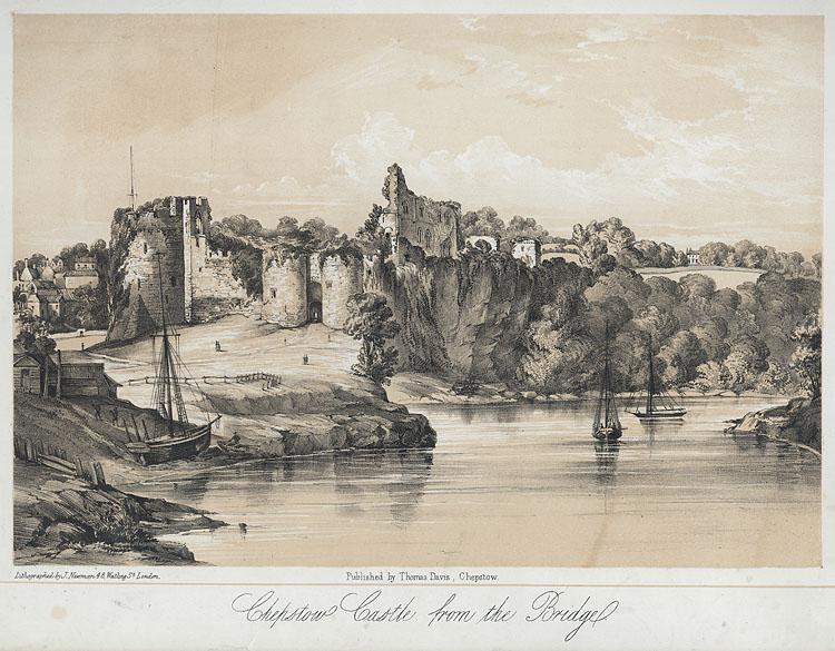 Chepstow Castle from the bridge