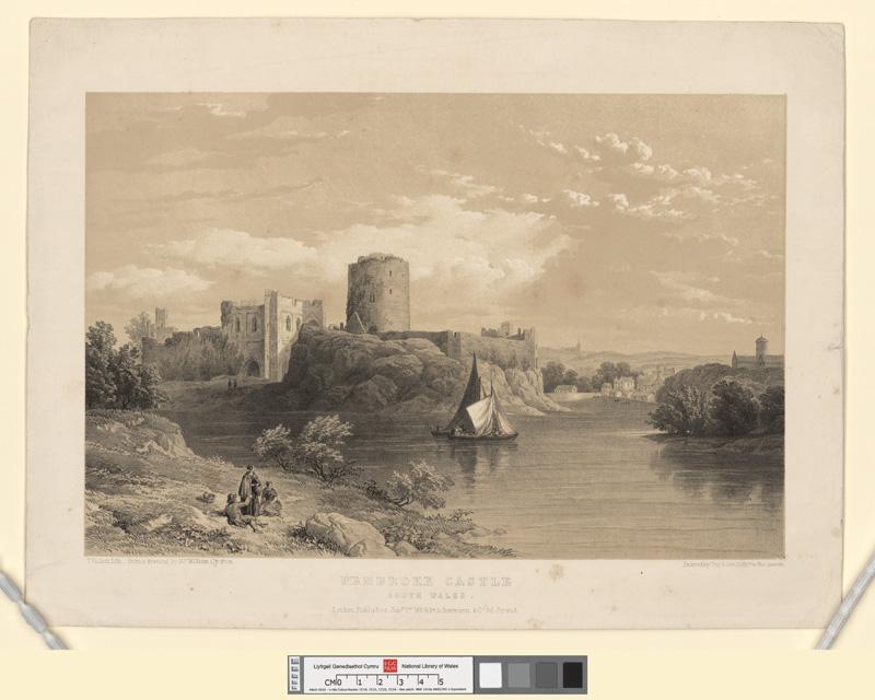 Pembroke castle, south Wales Jany 2nd 1854