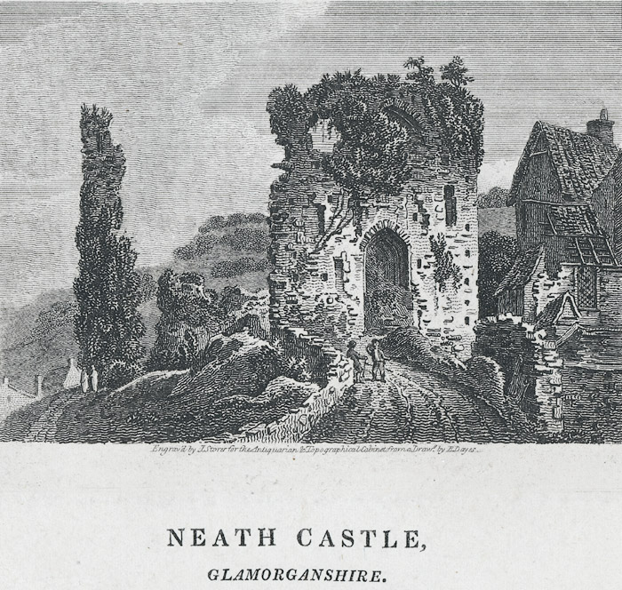 Neath castle, Glamorganshire