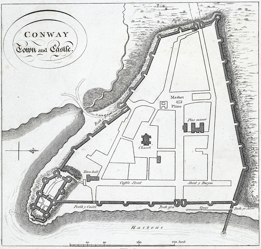 Conway Town and Castle.(Plan)