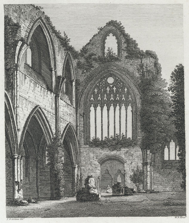 Inside of Tintern Abbey, West View