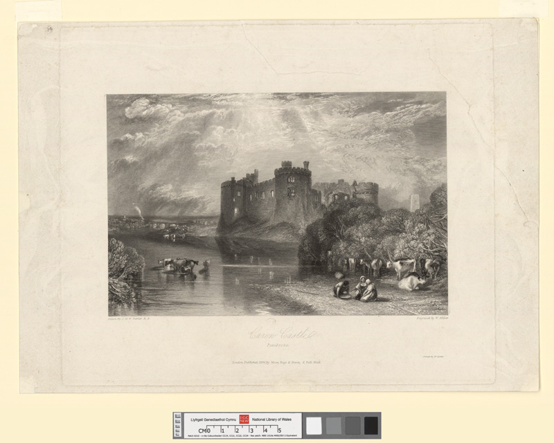 Carew Castle, Pembroke 1834