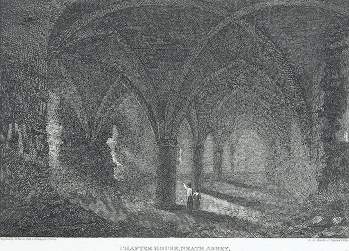 Chapter house, Neath Abbey, Glamorganshire