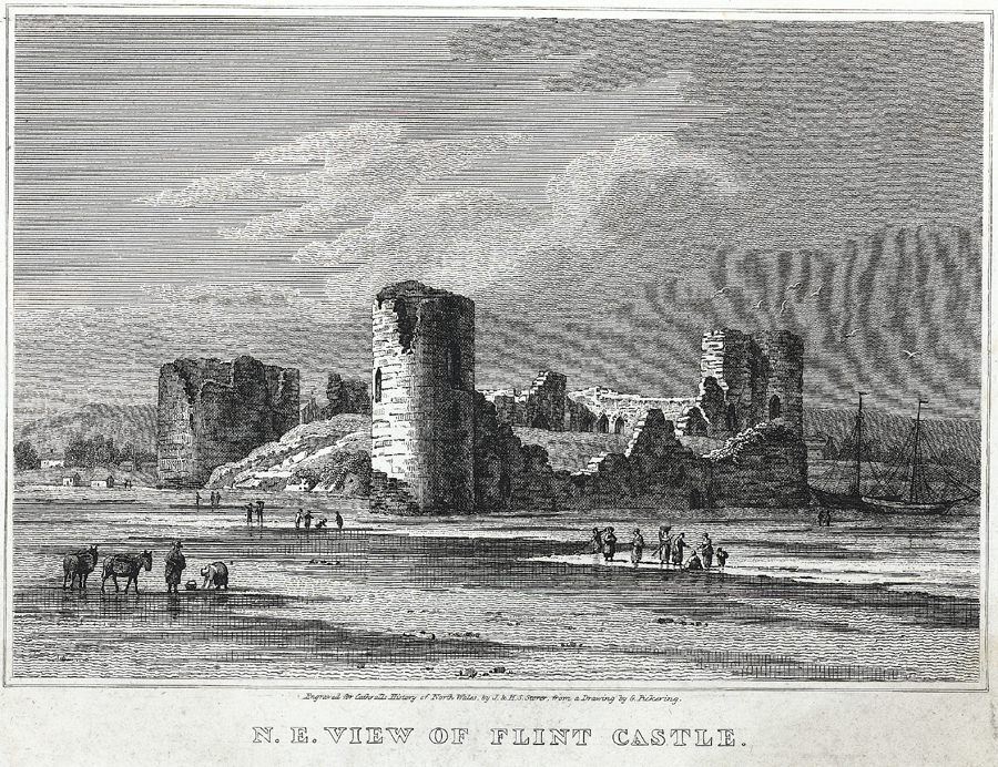 N.E. view of Flint Castle