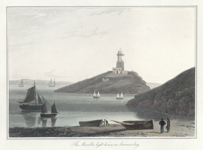 The Mumbles light house in Swansea bay