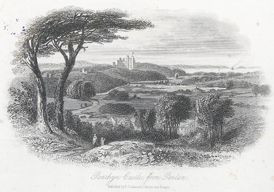 Penrhyn Castle, from Penlan