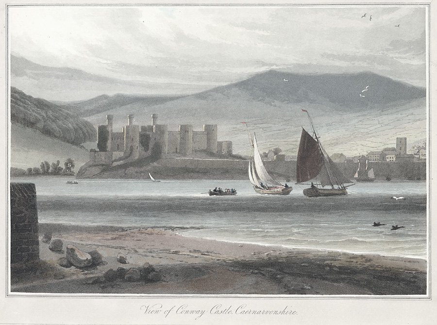 View of Conway Castle, Caernarvonshire