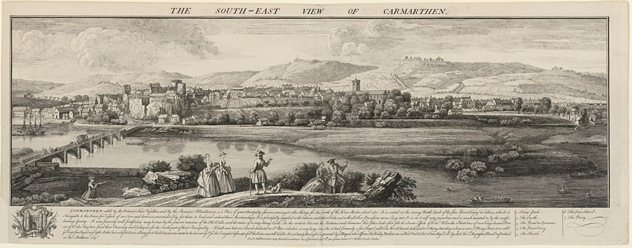 The south-east view of Carmarthen