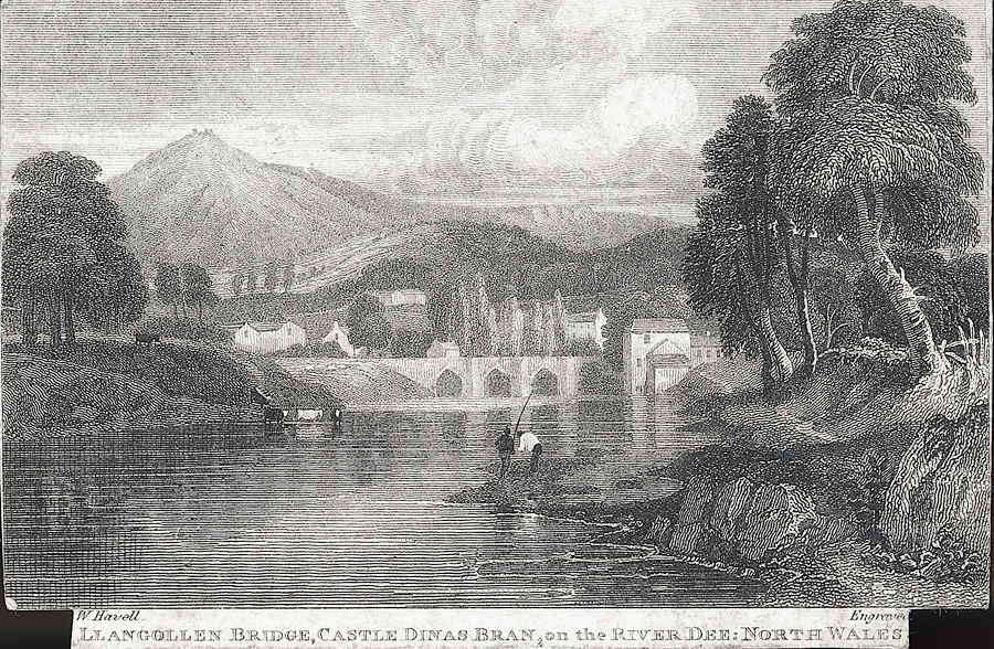 Llangollen bridge, castle Dinas Bran