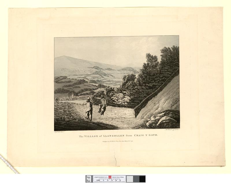 The village of Llangollen from Craig Y Gath