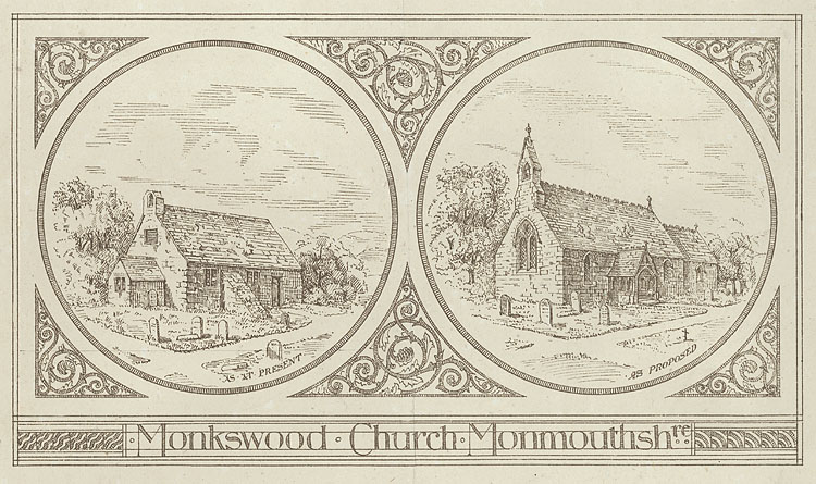 Monkswood Church, Monmouthshre. As At Present. As Proposed