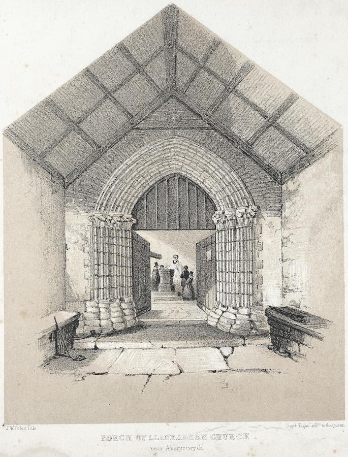 Porch of Llanbadarn Church, near Aberystwyth