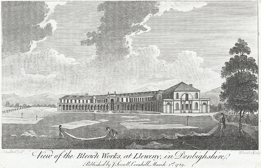 View of the bleach works, at Lleweny, in Denbighshire
