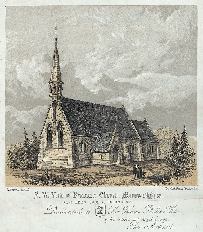 S. w. view of Penmaen Church, Monmouthshire