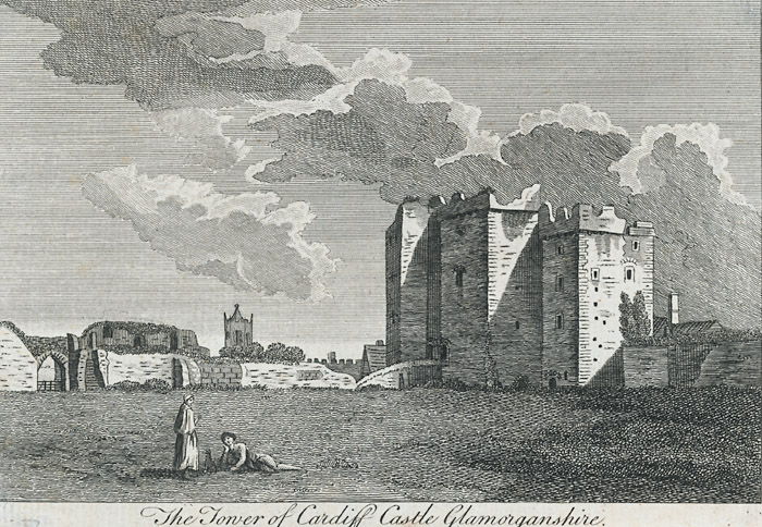 The tower of Cardiff castle, Glamorganshire