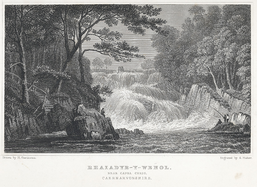Rhaiadyr-Y-Wenol. Near Capel Curig, Caernarvonshire