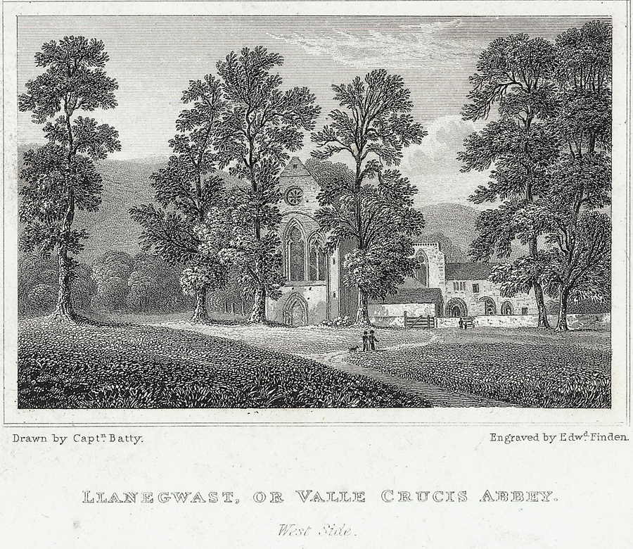 Llanegwast, or Valle Crucis abbey