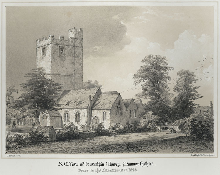 S. E. View of Trevethin Church, Prior to the Alterations in 1846