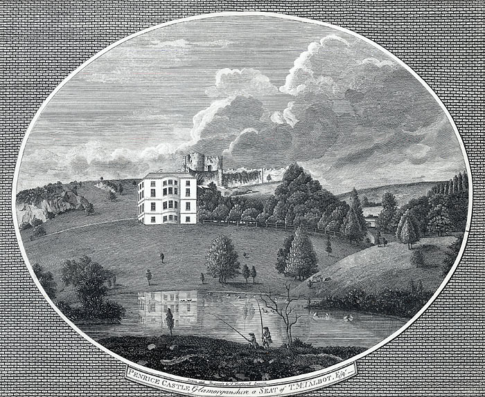Penrice castle, Glamorganshire, a seat of T. M. Talbot, Esqr