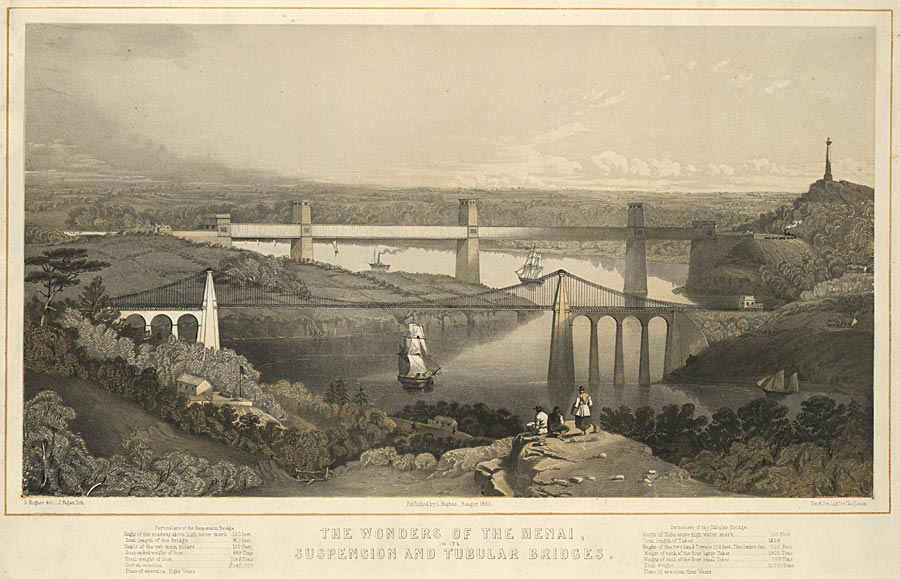 The wonders of the Menai, in its suspension and tubular bridges