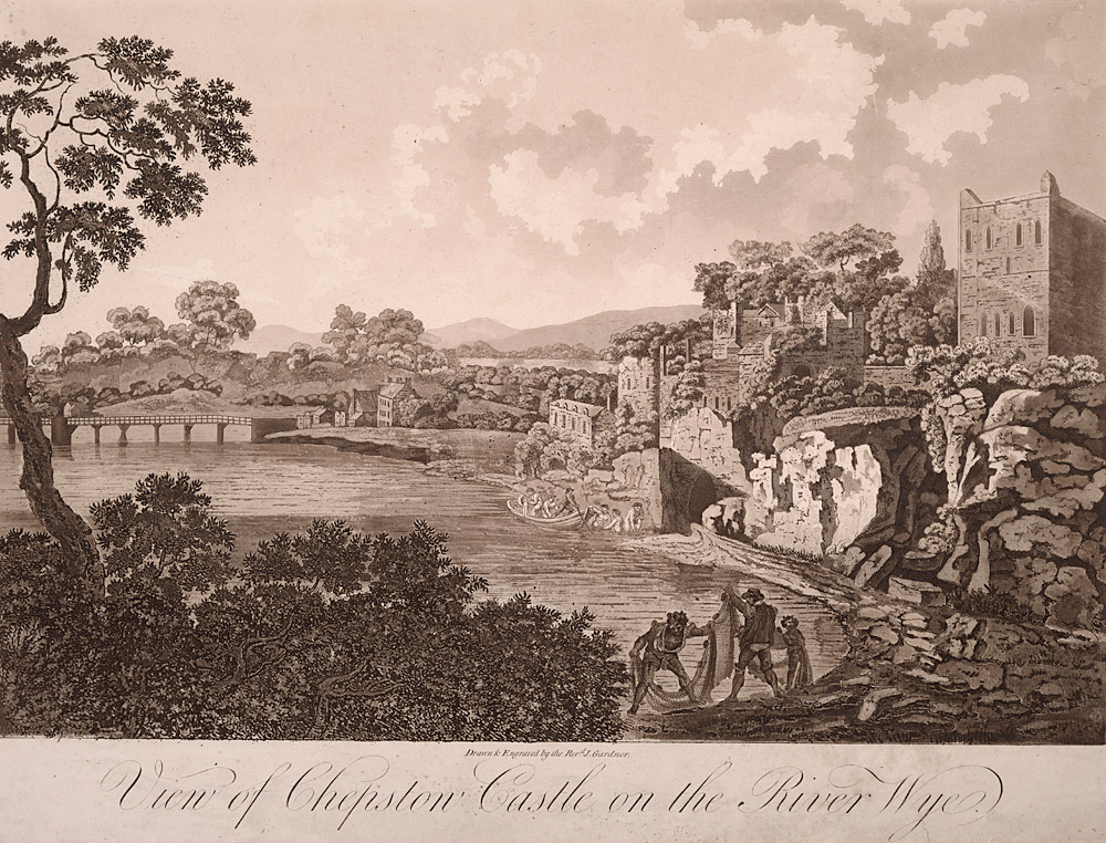 View of Chepstow Castle on the River Wye