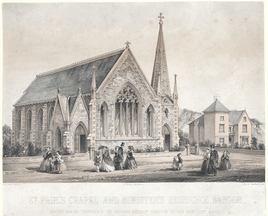 St. Paul's Chapel and minister's residence, Bangor