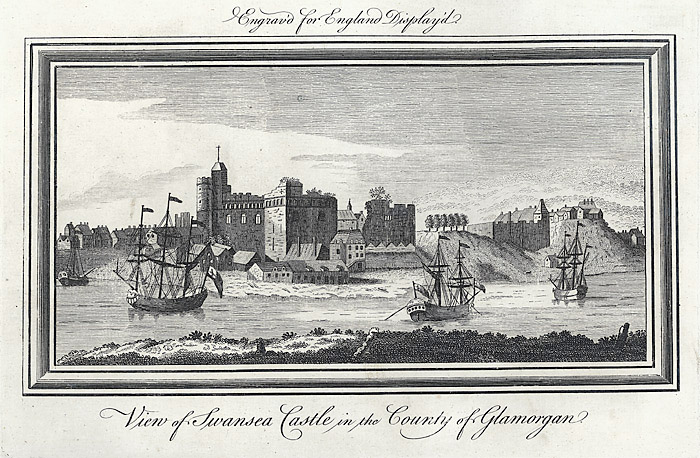 View of Swansea castle in the county of Glamorgan