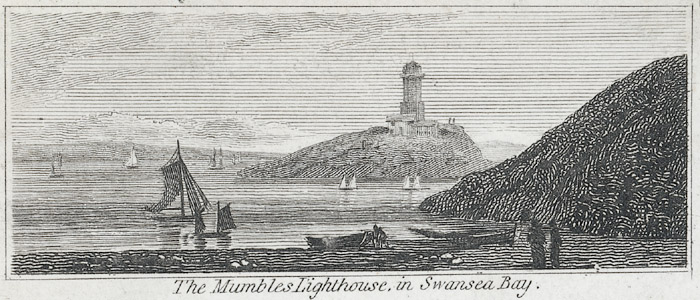 The Mumbles lighthouse, in Swansea bay