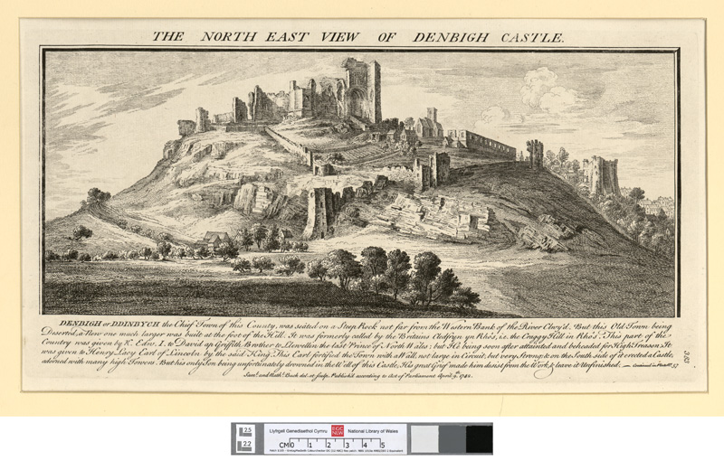 The north east view of Denbigh castle