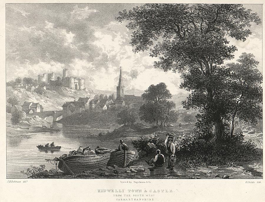 Kidwelli town & castle
