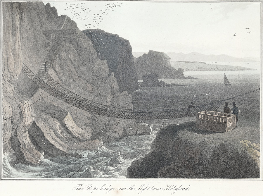 The rope bridge near the light-house, Holyhead