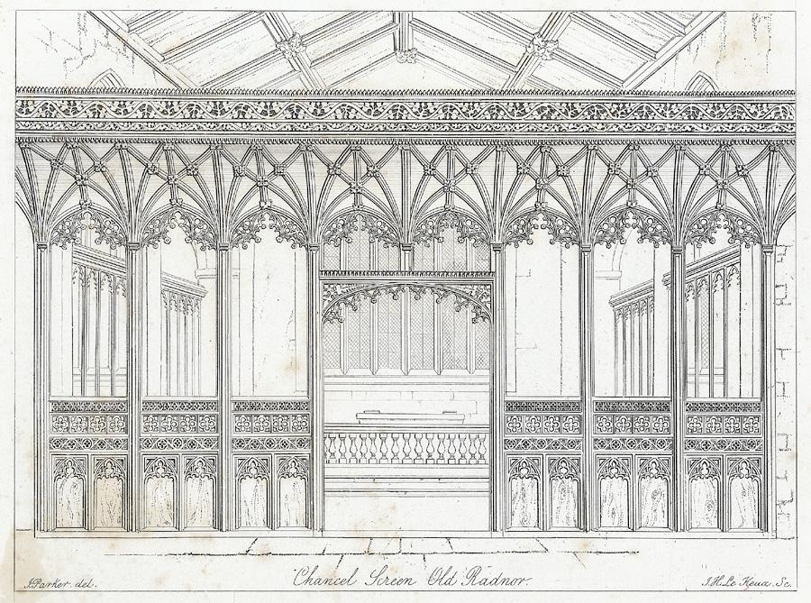 Chancel screen, Old Radnor