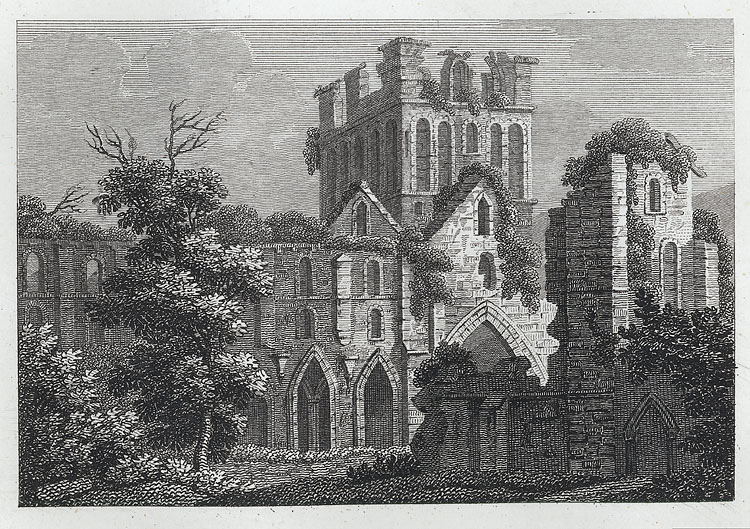 [South view of Llanthony Abbey]